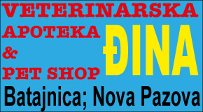 "Pet shop Batajnica  Nova Pazova Banovci veterinaraska apoteka ""ĐINA"""