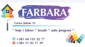 """Farbara Batajnica Pazova Banovci Ugrinovci boje lakovi """"Euro color build"""""""