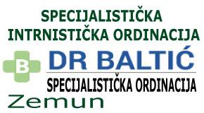 """Specijalistička internistička ordinacija Zemun centar Novi Beograd """"dr BALTIĆ"""""""