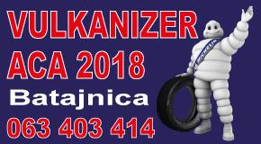 "Vulkanizerska radnja Batajnica Banovci Pazova vulkanizer ""ACA 2018 TOP"""