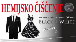 """Hemijsko čišćenje perionica veša hotel YU Merkator Zemun centar """"Black&White"""""""